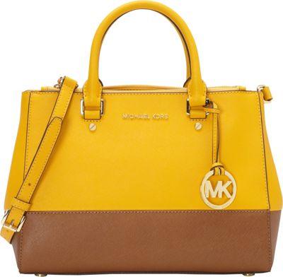 MICHAEL Michael Kors Sutton Medium Color-Block Satchel Sun/Luggage - MICHAEL Michael Kors Designer Handbags