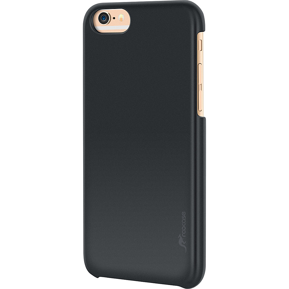 rooCASE Slim Fit Median Hard Case Protective Shell Cover for iPhone 6 6s 4.7 Black rooCASE Electronic Cases