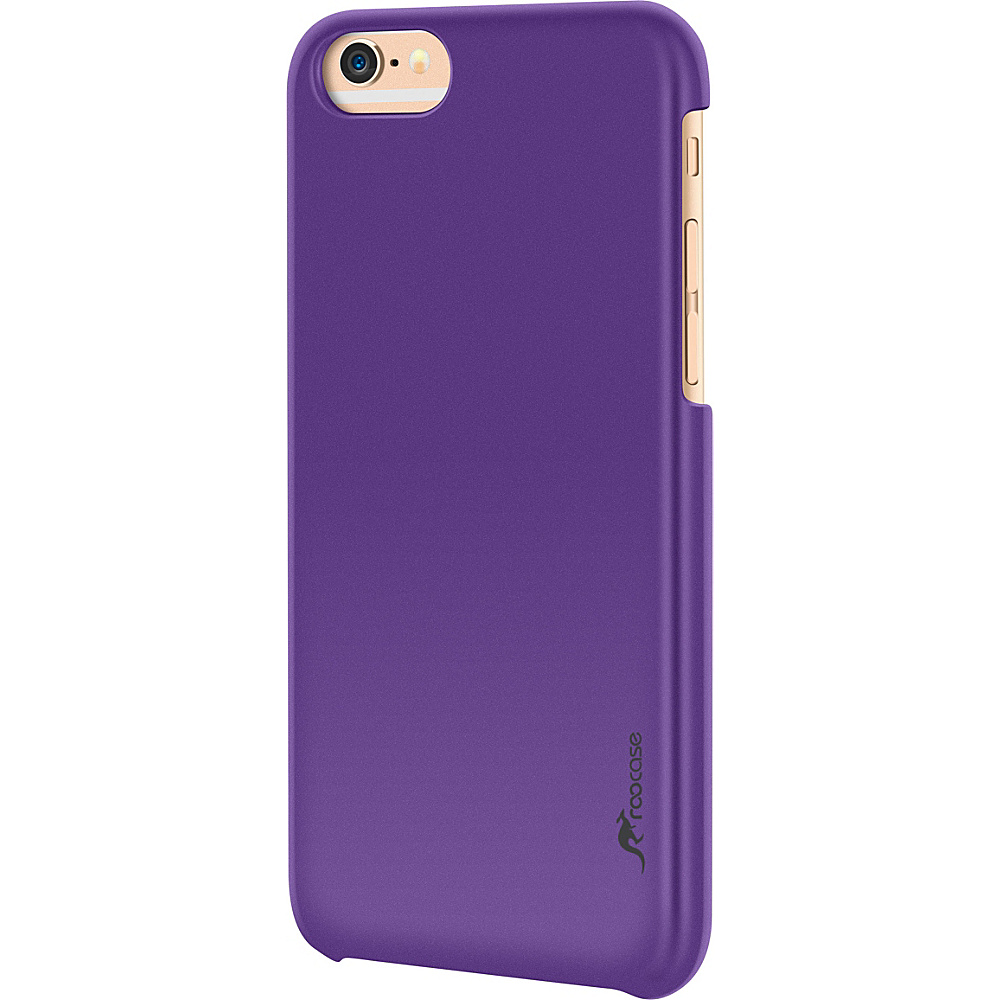 rooCASE Slim Fit Median Hard Case Protective Shell Cover for iPhone 6 6s 4.7 Purple rooCASE Electronic Cases