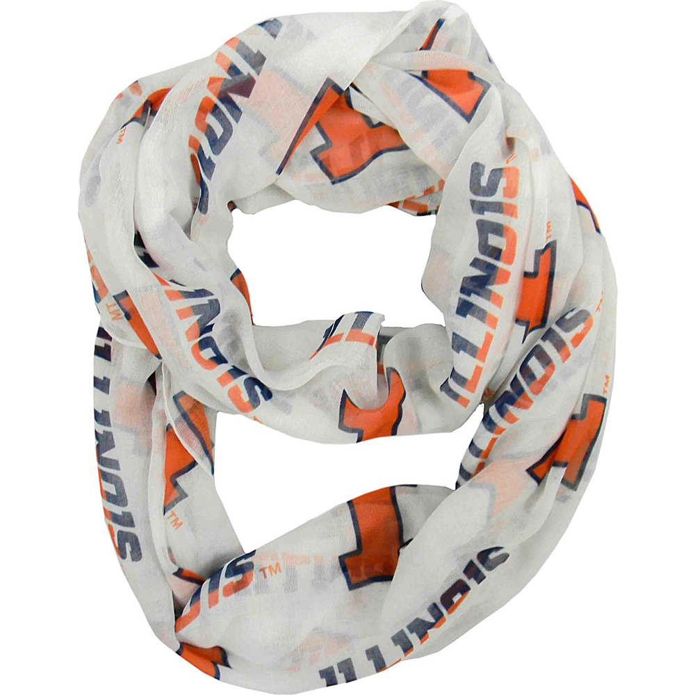 Littlearth Sheer Infinity Scarf - Big Ten Teams Illinois, U of - Littlearth Hats/Gloves/Scarves - Fashion Accessories, Hats/Gloves/Scarves