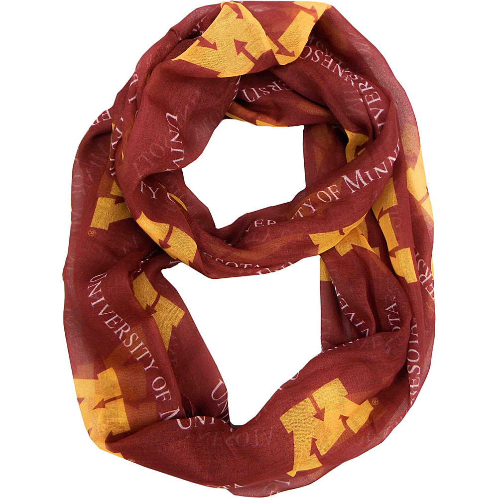 Littlearth Sheer Infinity Scarf - Big Ten Teams Minnesota, U of - Littlearth Hats/Gloves/Scarves - Fashion Accessories, Hats/Gloves/Scarves