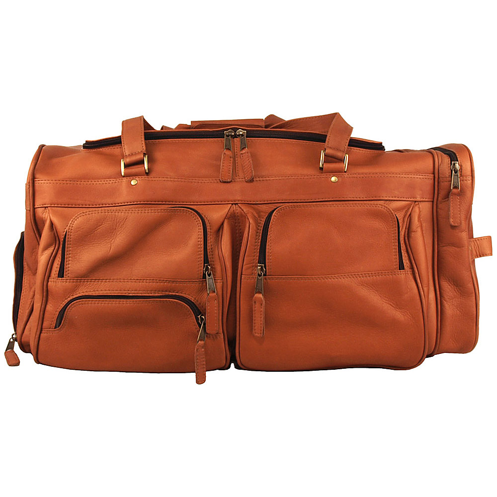 Latico Leathers Deluxe Travel Bag Natural - Latico Leathers Travel Duffels - Duffels, Travel Duffels