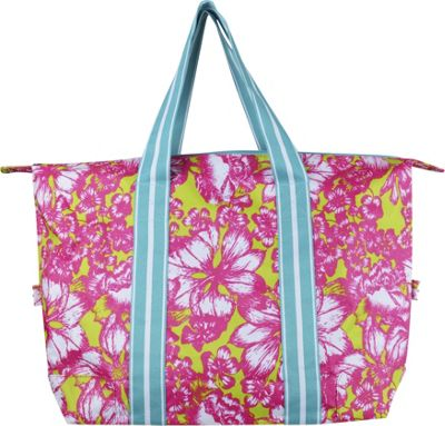 All For Color Travel Tote Aloha Paradise - All For Color Fabric Handbags