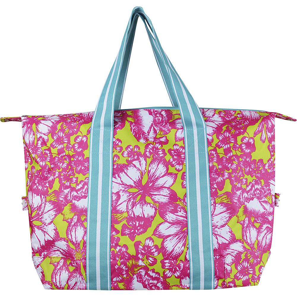 All For Color Travel Tote Aloha Paradise All For Color Fabric Handbags