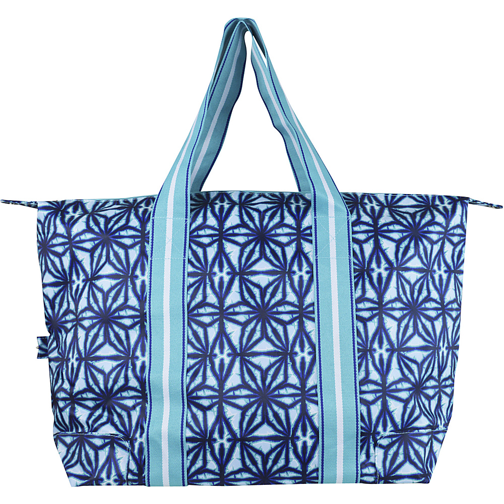 All For Color Travel Tote Indigo Batik All For Color Fabric Handbags