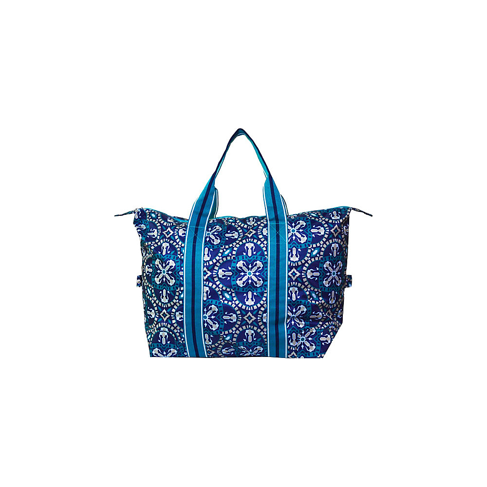 All For Color Travel Tote Artisan Tile All For Color Fabric Handbags