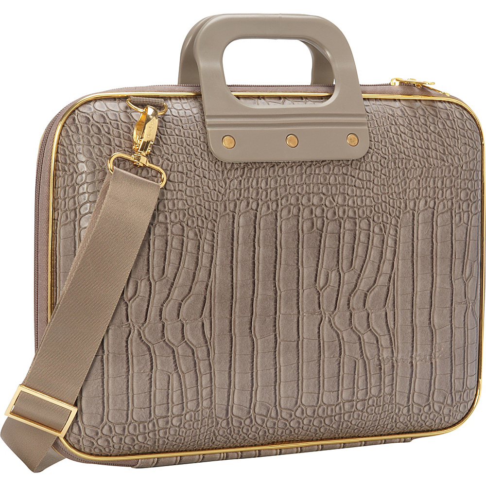 Bombata Gold Cocco 13 inch Laptop Case Taupe Bombata Non Wheeled Business Cases