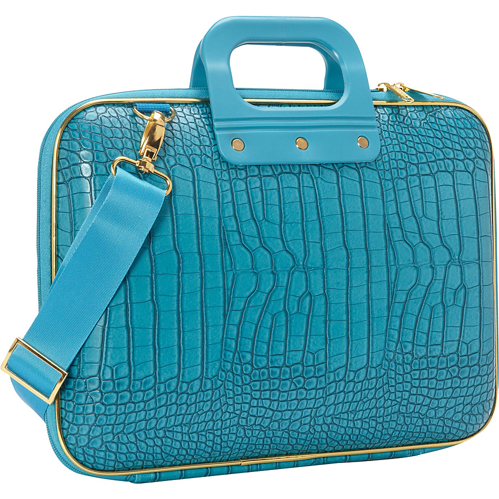 Bombata Gold Cocco 13 inch Laptop Case Turquoise Bombata Non Wheeled Business Cases