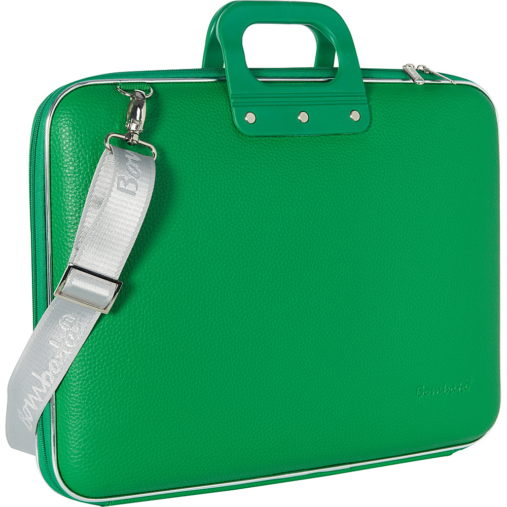 Bombata Gold Cocco 13 inch Laptop Case Emerald Green Bombata Non Wheeled Business Cases