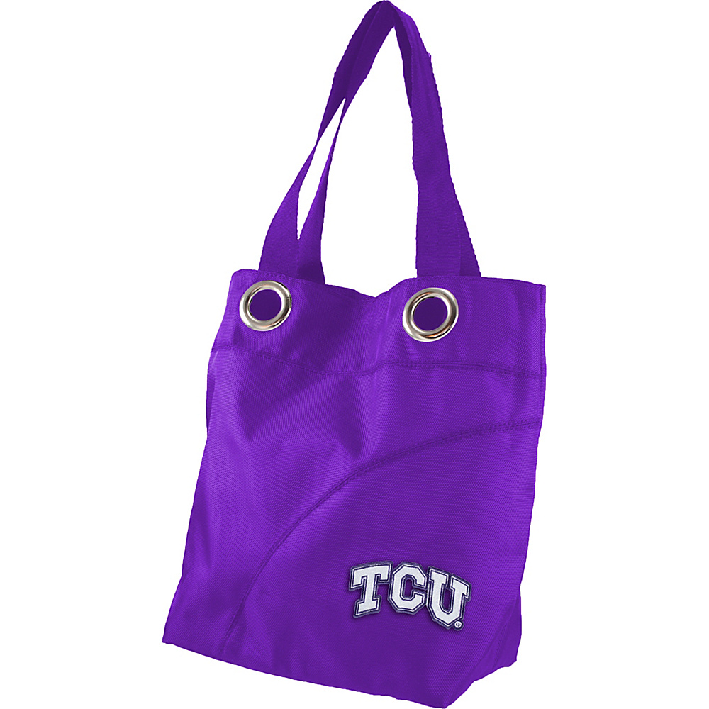 Littlearth Color Sheen Tote - Big 12 Teams Texas Christian University - Littlearth Fabric Handbags - Handbags, Fabric Handbags
