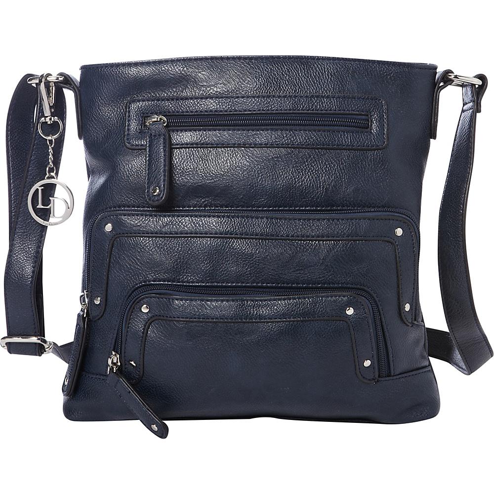 129f215e18bc La Diva Crossbody with Pockets Navy - La Diva Manmade Handbags - 10334649  by La Diva