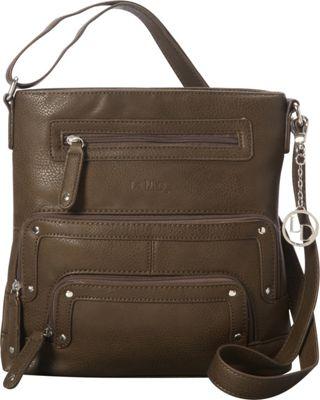 La Diva Crossbody with Pockets Olive - La Diva Manmade Handbags
