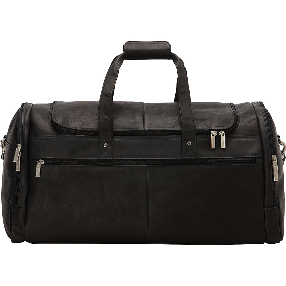 Le Donne Leather 22 Voyager Duffel Black - Le Donne Leather Rolling Duffels - Luggage, Rolling Duffels