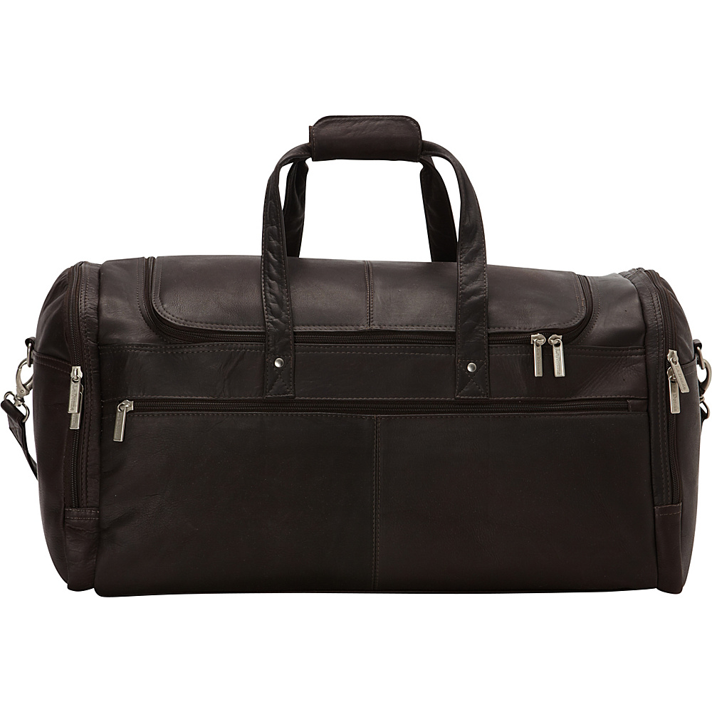 Le Donne Leather 22 Voyager Duffel Cafe - Le Donne Leather Rolling Duffels - Luggage, Rolling Duffels