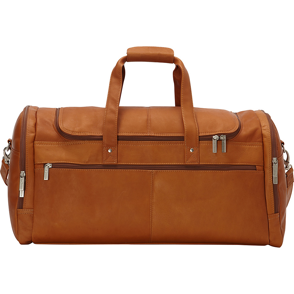Le Donne Leather 22 Voyager Duffel Tan - Le Donne Leather Rolling Duffels - Luggage, Rolling Duffels
