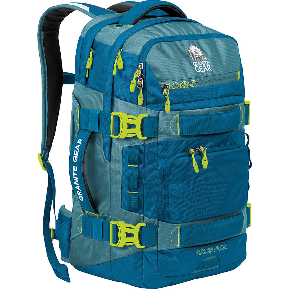 Granite Gear Cross Trek 36 Liter Backpack Bleumine Blue Frost Neolime Granite Gear Business Laptop Backpacks