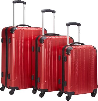 McBrine Luggage 3Pc Spinner Luggage Set Red - McBrine Lug...
