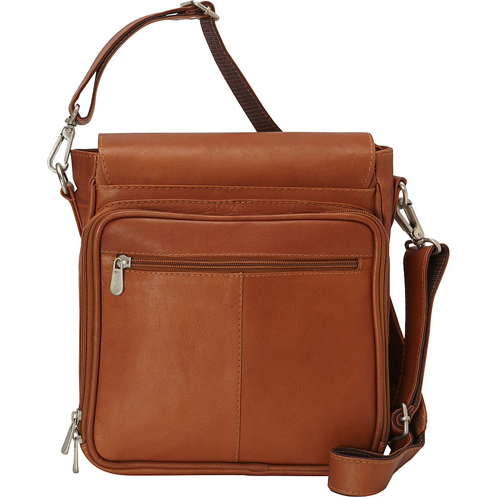 Piel Double Loop Tablet Carry-All Messenger Bag Saddle - Piel Other Mens Bags - Work Bags & Briefcases, Other Men's Bags