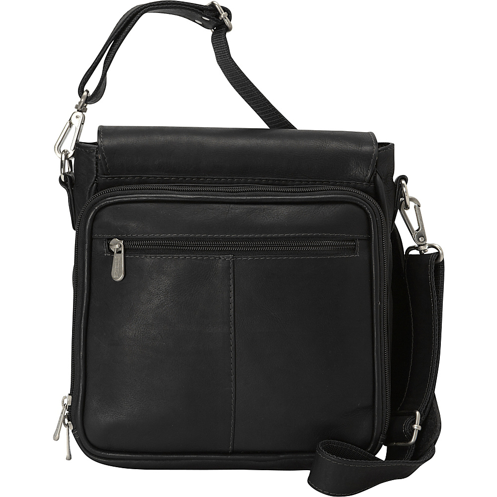 Piel Double Loop Tablet Carry-All Messenger Bag Black - Piel Other Mens Bags - Work Bags & Briefcases, Other Men's Bags