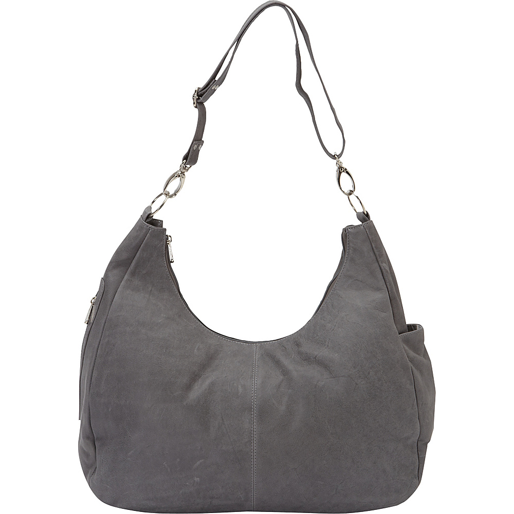 Piel Large Convertible Crossbody Bag Charcoal - Piel Leather Handbags - Handbags, Leather Handbags