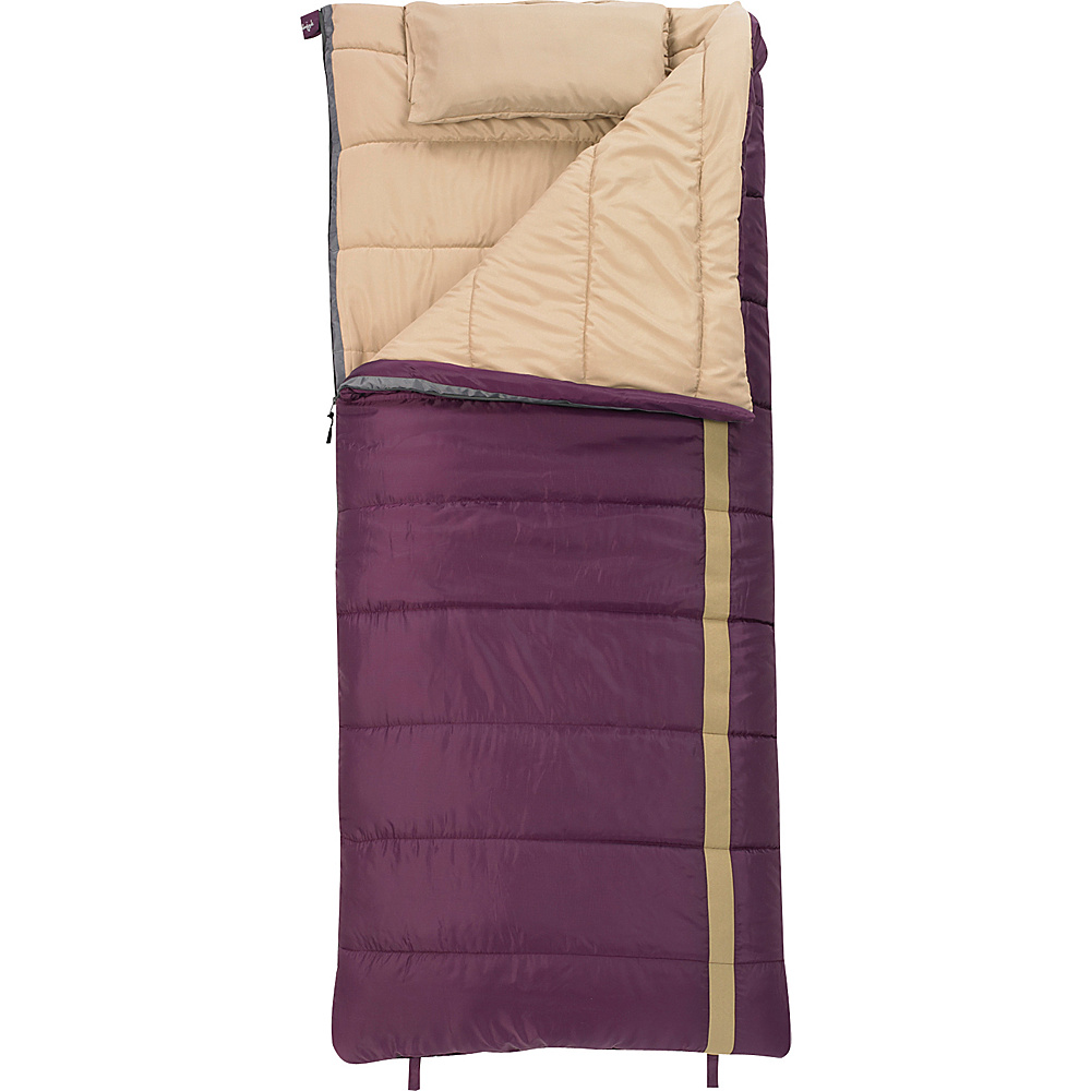 Slumberjack Timber Jill 20 Degree Women s Regular Right Hand Sleeping Bag Blackberry Slumberjack Outdoor Accessories