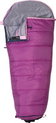 Slumberjack Go-N-Grow Girls 30 Degree Short Right Hand Sleeping Bag Pink - Slumberjack Outdoor Accessories