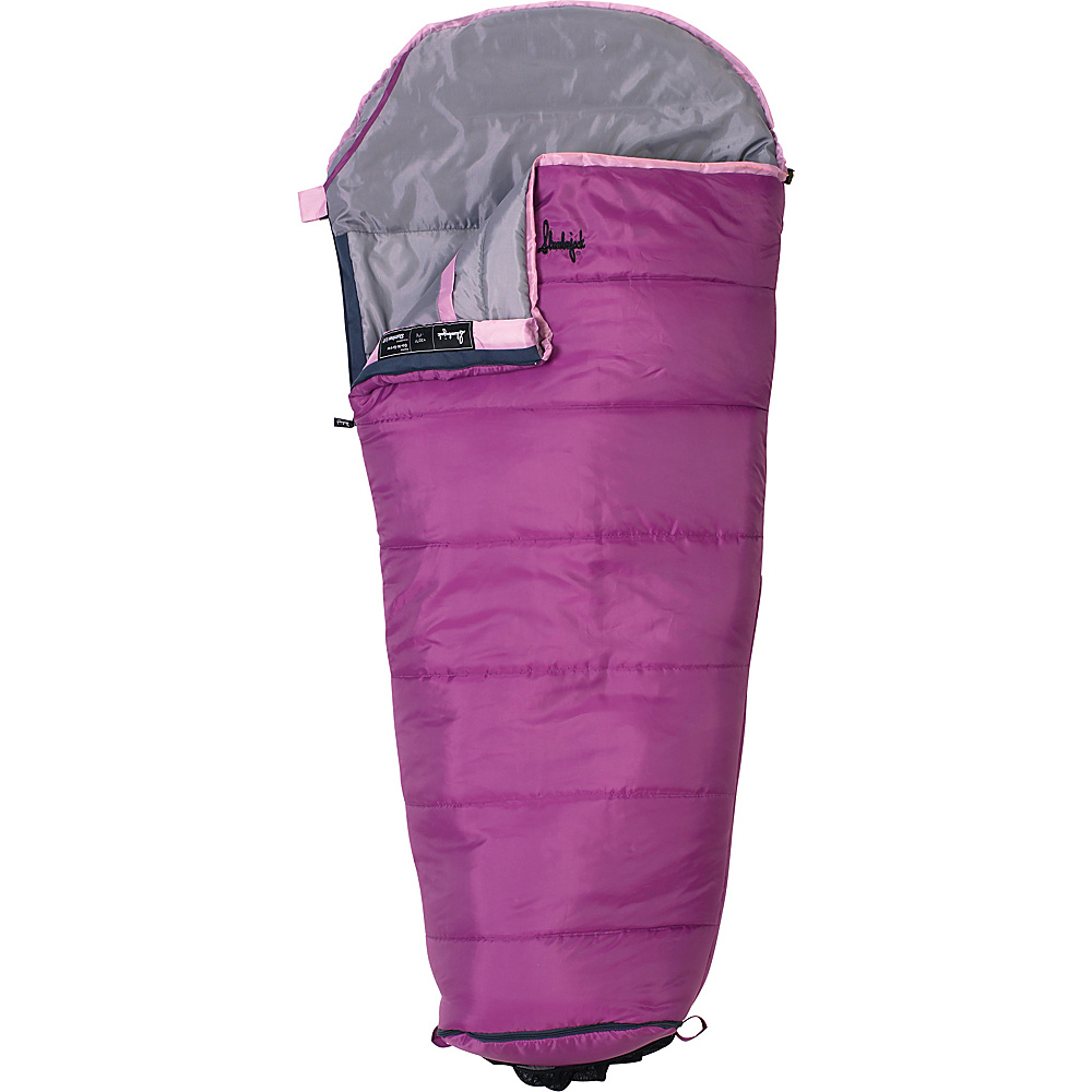 Slumberjack Go N Grow Girls 30 Degree Short Right Hand Sleeping Bag Pink Slumberjack Outdoor Accessories