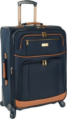 Tommy Bahama Mojito 24 inch Expandable Spinner Navy - Tommy Bahama Softside Checked