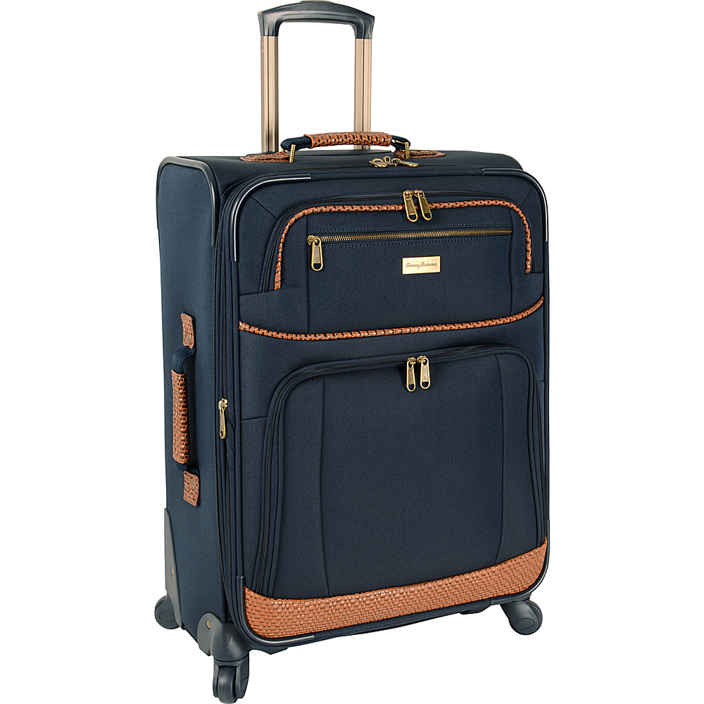 Tommy Bahama Mojito 24  Expandable Spinner Navy - Tommy Bahama Softside Checked Mojito 24  Expandable Spinner Navy. A classic and well-made Tommy Bahama luggage piece that is ideally suited for all of your vacation and travel needs.
