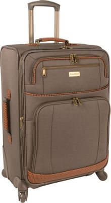 Tommy Bahama Mojito 24 inch Expandable Spinner Brownstone - Tommy Bahama Softside Checked