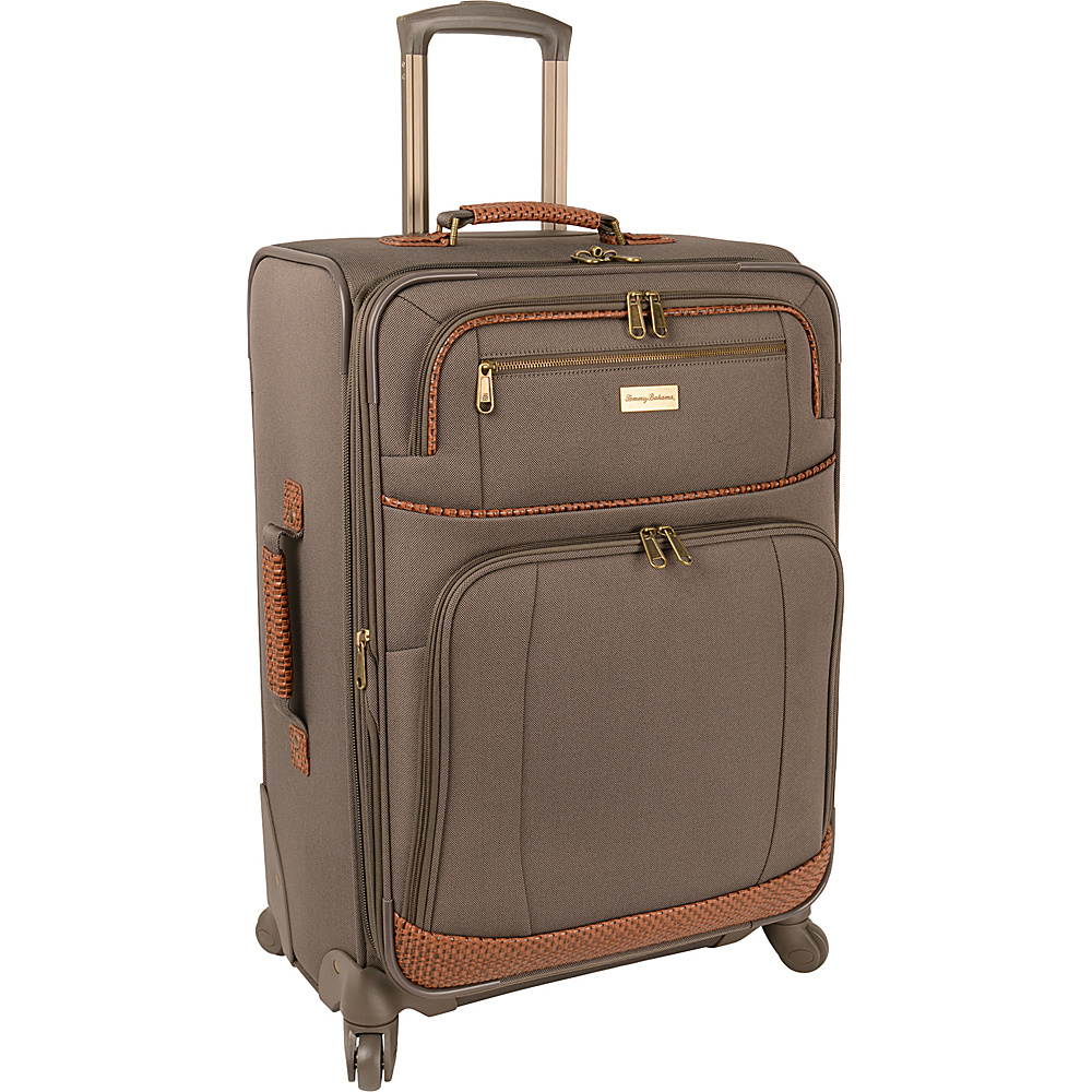Tommy Bahama Mojito 24 Expandable Spinner Brownstone Tommy Bahama Softside Checked
