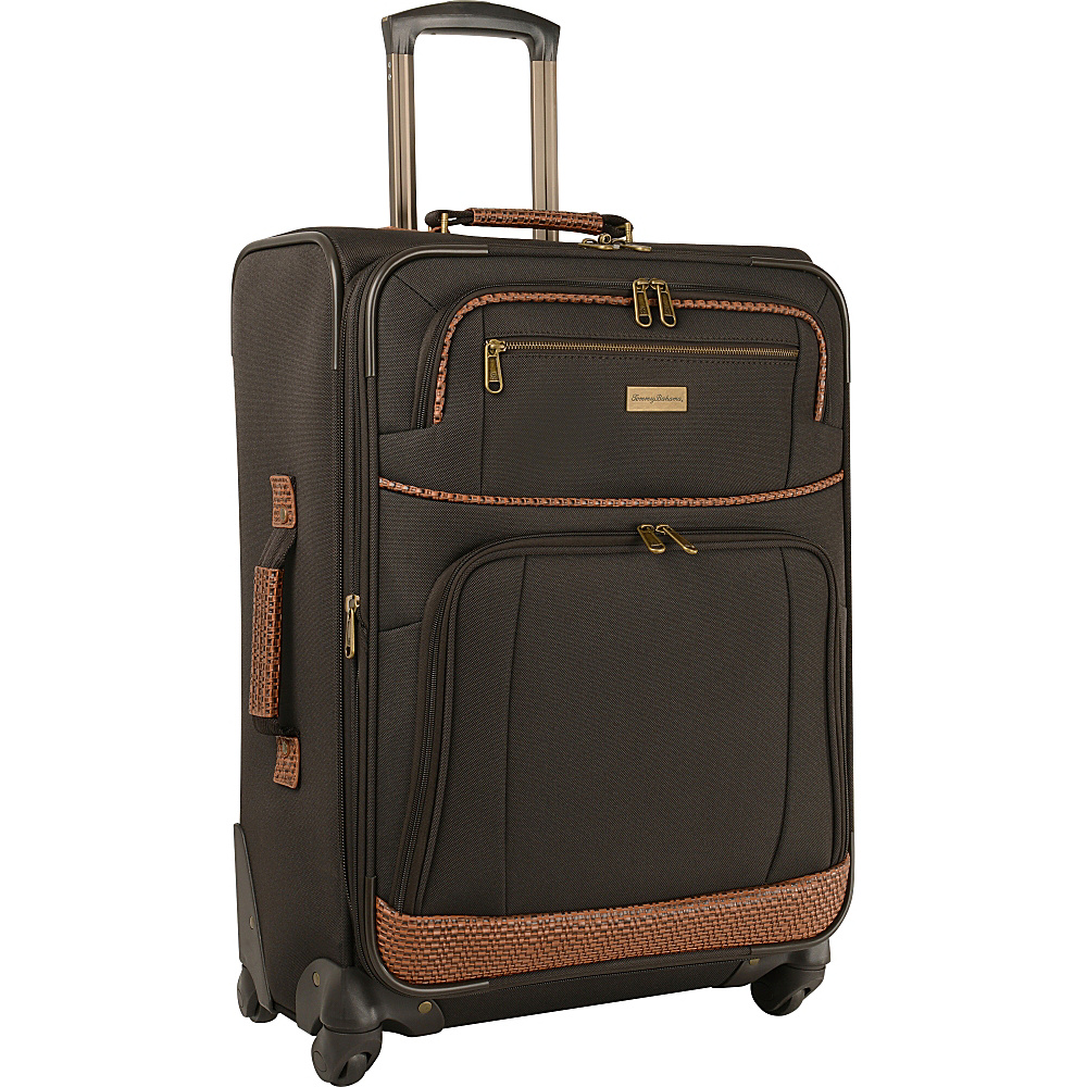 Tommy Bahama Mojito 24  Expandable Spinner Dark Brown - Tommy Bahama Softside Checked Mojito 24  Expandable Spinner Dark Brown. A classic and well-made Tommy Bahama luggage piece that is ideally suited for all of your vacation and travel needs.
