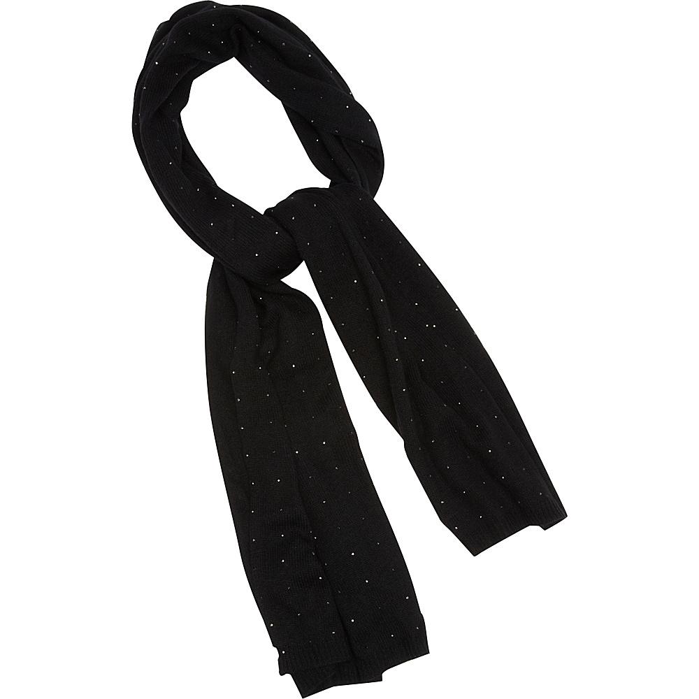 Kinross Cashmere Crystal Studded Oversize Scarf Black Kinross Cashmere Hats Gloves Scarves