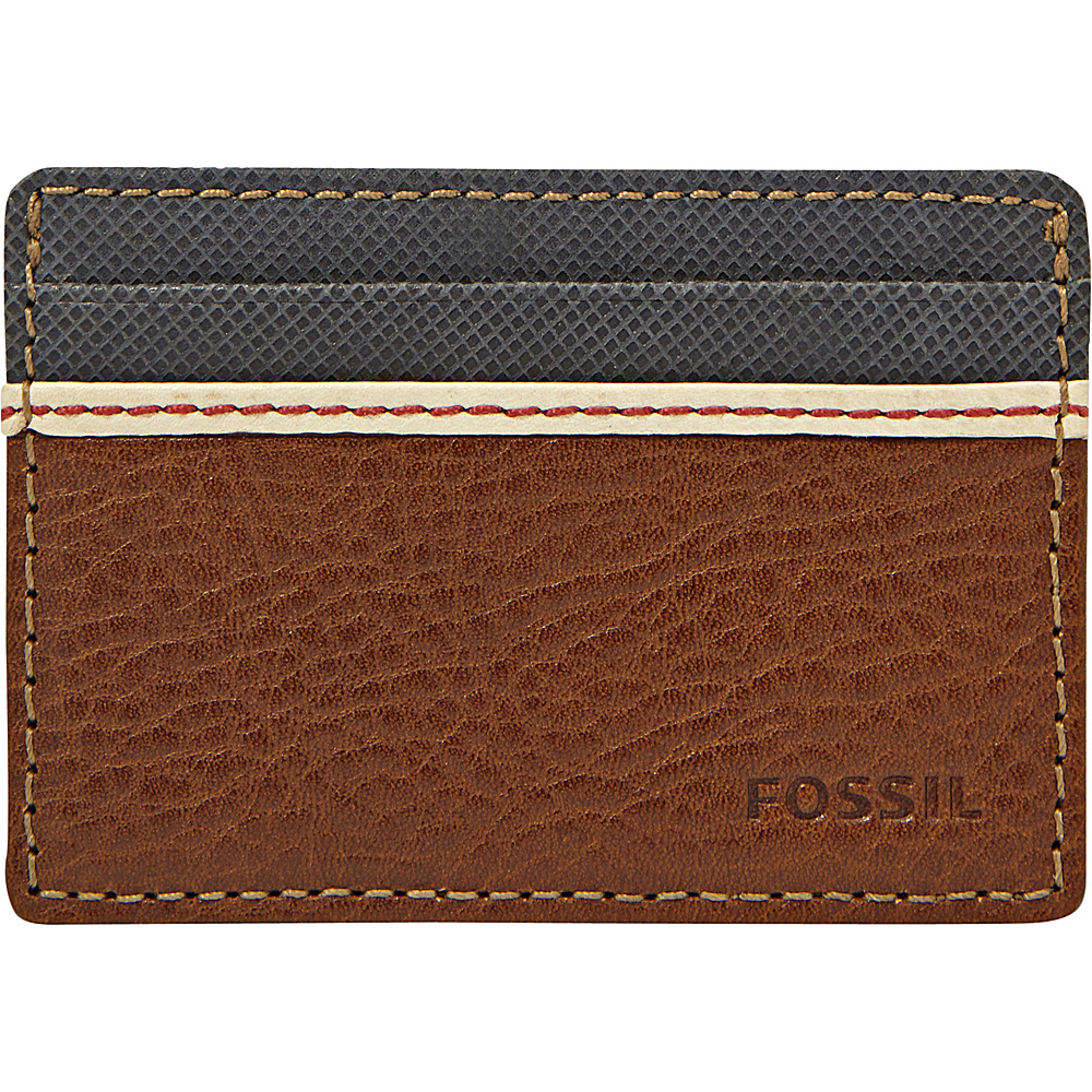 Fossil Elgin ID Card Case Front Pocket Wallet Brown - Fossil Mens Wallets - Work Bags & Briefcases, Men's Wallets