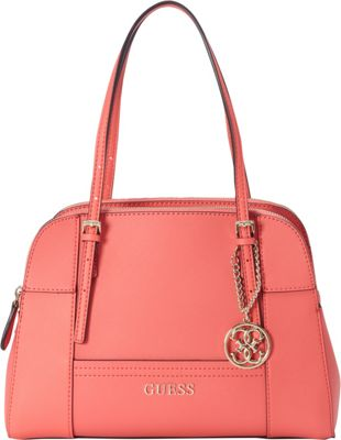 GUESS Huntley Cali Satchel Coral - GUESS Manmade Handbags