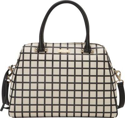 kate spade new york Charles Street Fabric Brantley Satchel Pebble/Black - kate spade new york Designer Handbags