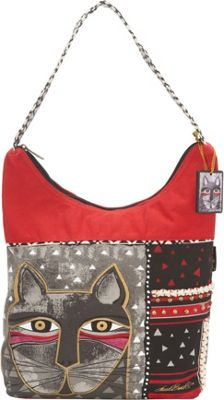 Laurel Burch Whiskered Cats Hobo Multi - Laurel Burch Fabric Handbags