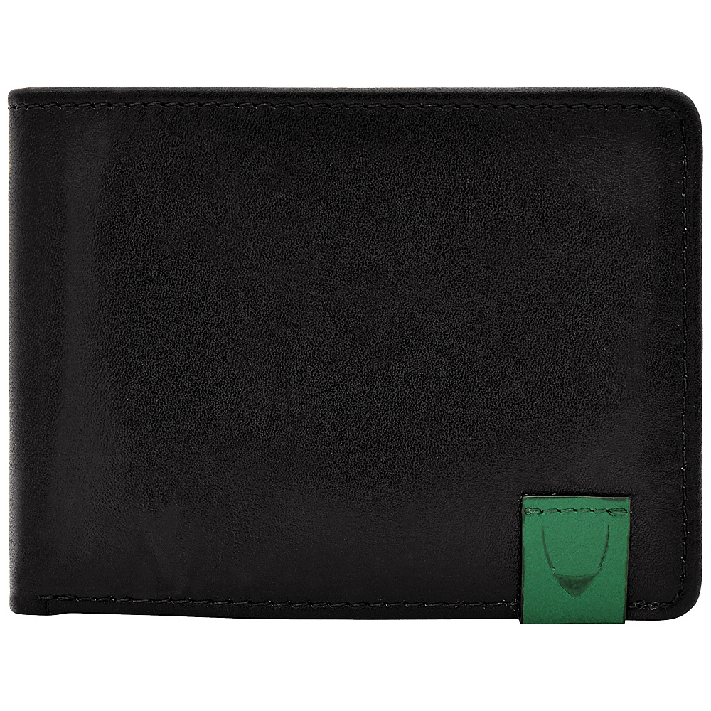 Hidesign Dylan Slim Thin Simple Leather Bifold Wallet Black Hidesign Men s Wallets