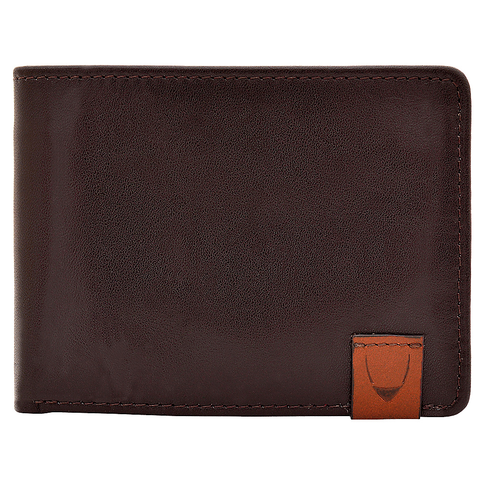 Hidesign Dylan Slim Thin Simple Leather Bifold Wallet Brown Hidesign Men s Wallets