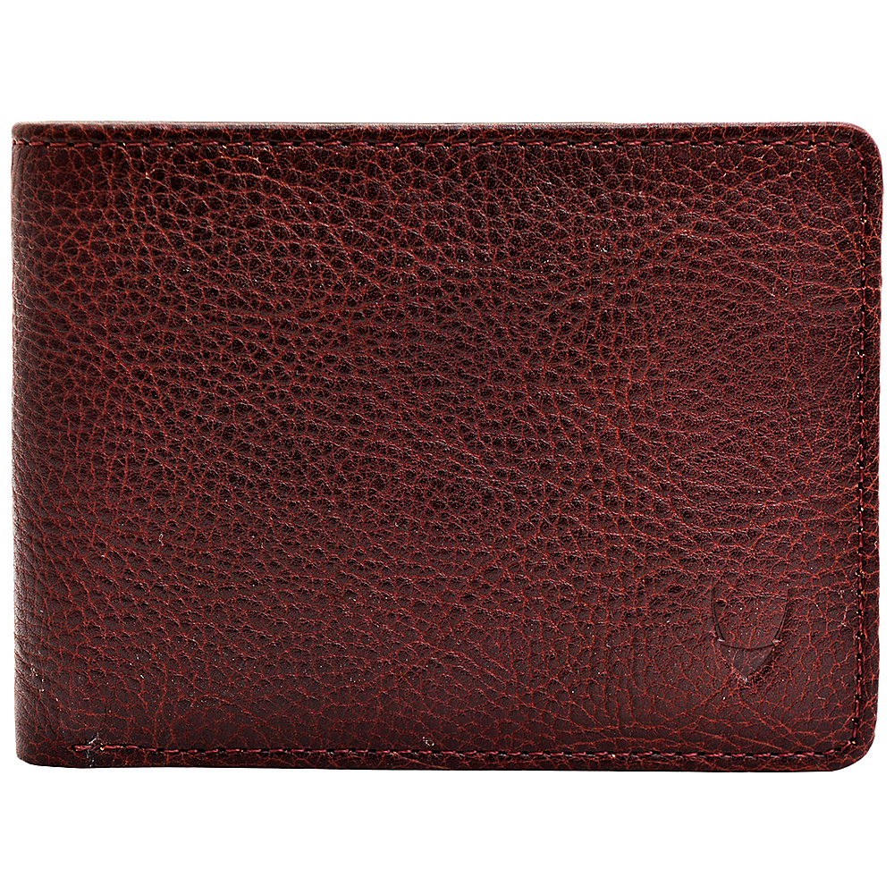 Hidesign Giles Vegetable Tanned Leather Wallet with Coin Pocket Brown Hidesign Men s Wallets