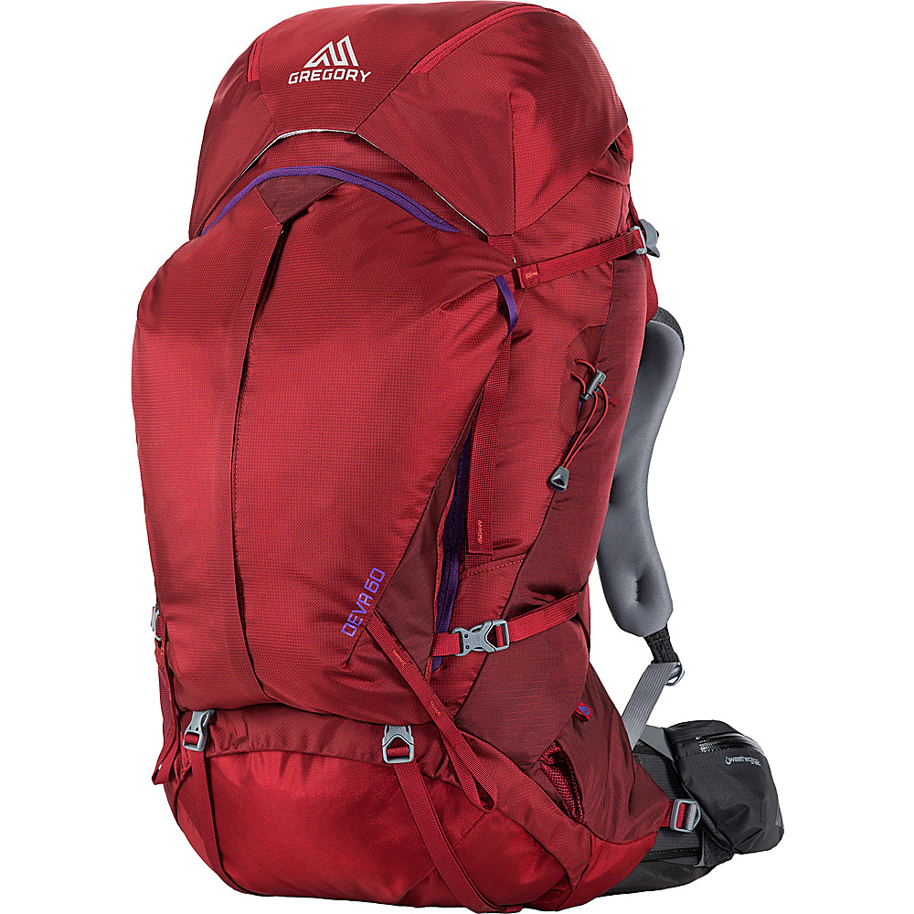 Gregory Deva 60 Small Pack Ruby Red Gregory Day Hiking Backpacks