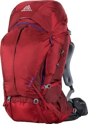 Gregory Deva 60 Small Pack Ruby Red - Gregory Day Hiking Backpacks