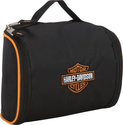 Harley Davidson by Athalon Fabric Toiletry Kit Black - Harley Davidson by Athalon Toiletry Kits