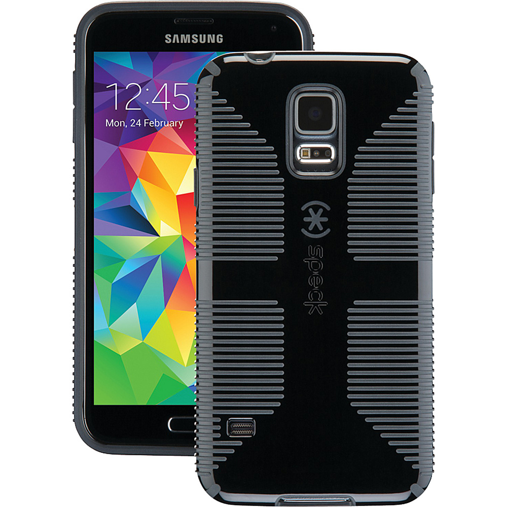 Speck Samsung Galaxy S5 Candyshell Grip Case Black Slate Gray Speck Electronic Cases