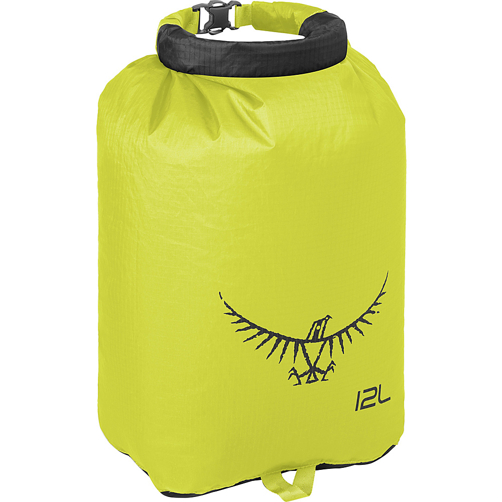 Osprey Ultralight Dry Sack Electric Lime – 12L - Osprey Outdoor Accessories - Outdoor, Outdoor Accessories