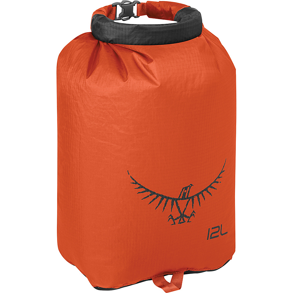 Osprey Ultralight Dry Sack Poppy Orange – 12L - Osprey Outdoor Accessories - Outdoor, Outdoor Accessories