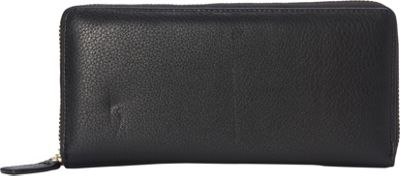 R & R Collections Top Zip Around Ladies Wallets Black - R & R Collections Women's Wallets 10344437