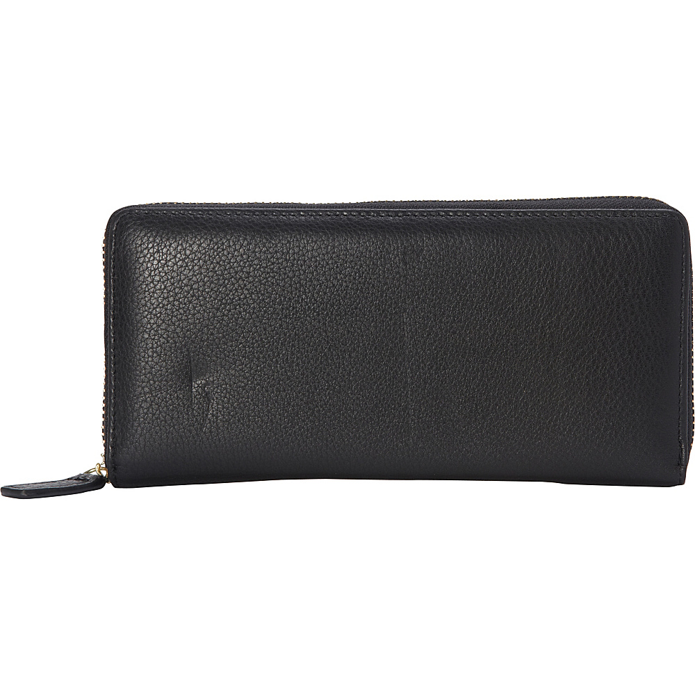 R R Collections Top Zip Around Ladies Wallets Black R R Collections Women s Wallets