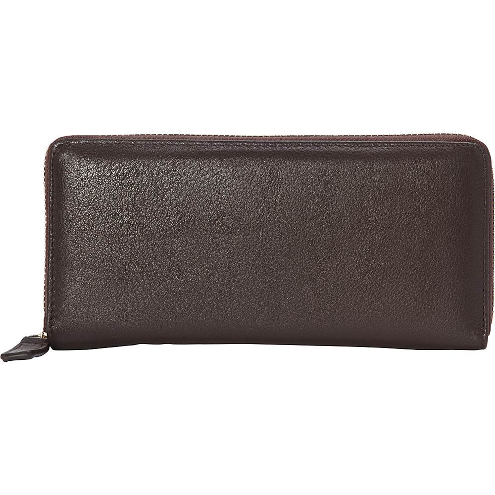R R Collections Top Zip Around Ladies Wallets Brown R R Collections Women s Wallets