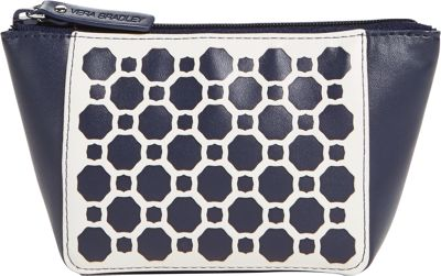 Vera Bradley Laser Cut Purse Cosmetic Navy Geometric - Vera Bradley Ladies Cosmetic Bags